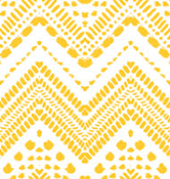 Yellow and White Chevron Mural