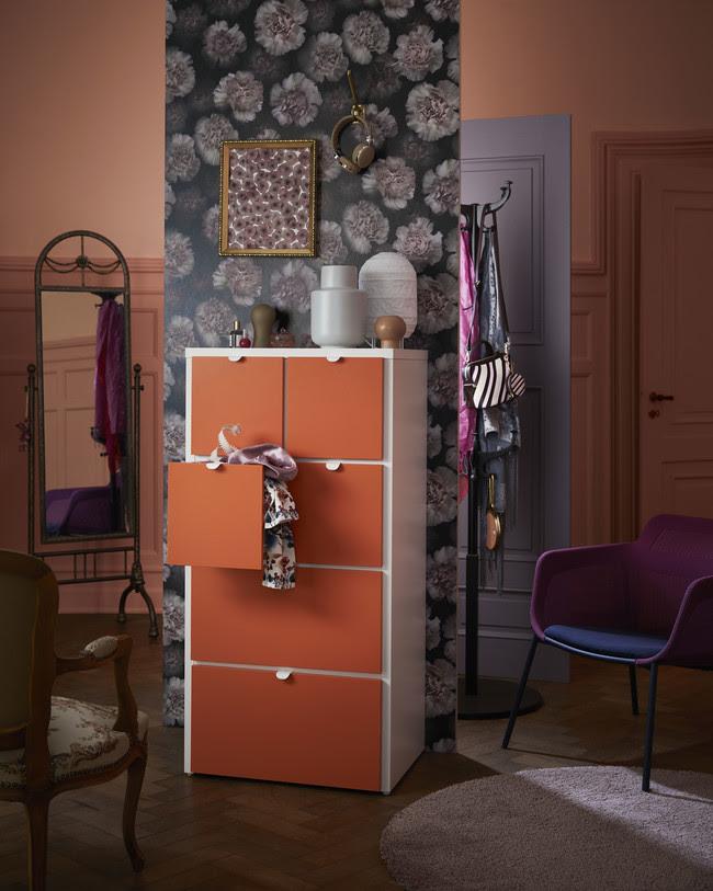 Ikea Novedades 2017 Ph144942 Visthus Comoda Cahones Blanco Naranja Lowres