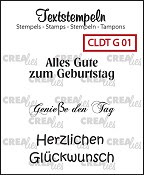 Deutsche Textstempeln G 01