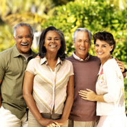 Image of a group of diverse older couples