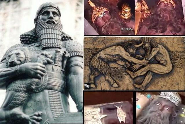 Have the intact bodies of Gilgamesh and Enkidu been found in discovered sarcophagi? VIDEO:
