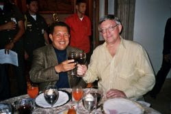Alan Woods con Chávez
