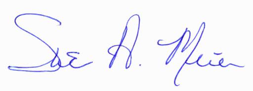 Sue signature blue