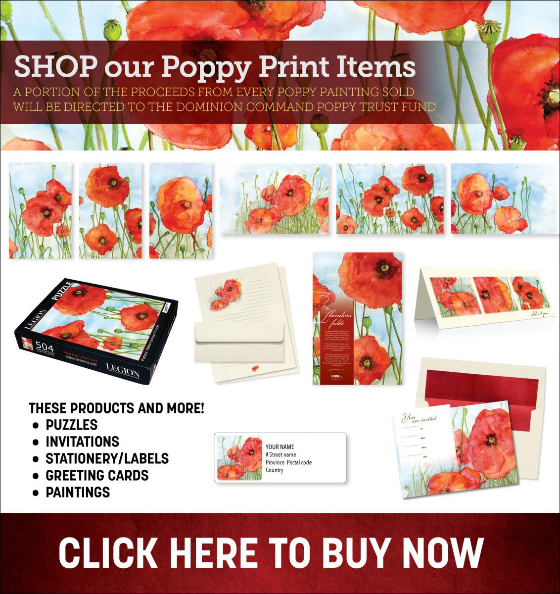 Poppy Print Collection starting at $1.75!