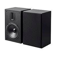 Monoprice MP-65RT 6.5in and Ribbon Tweeter 2-Way Bookshelf Speakers (Pair), Black
