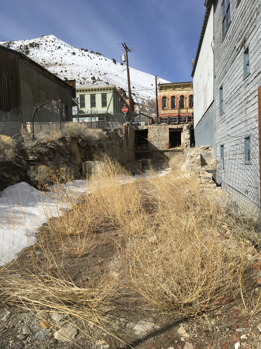 View of the former Black & Howell site at Virginia City
