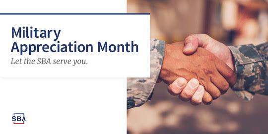 SBA Military Appreciation Month graphic