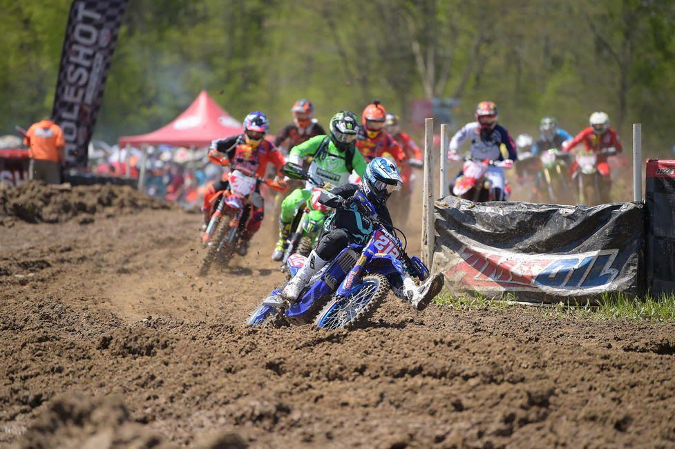AmPro Yamaha's Ricky Russell grabbed the All Balls Racing holeshot award.