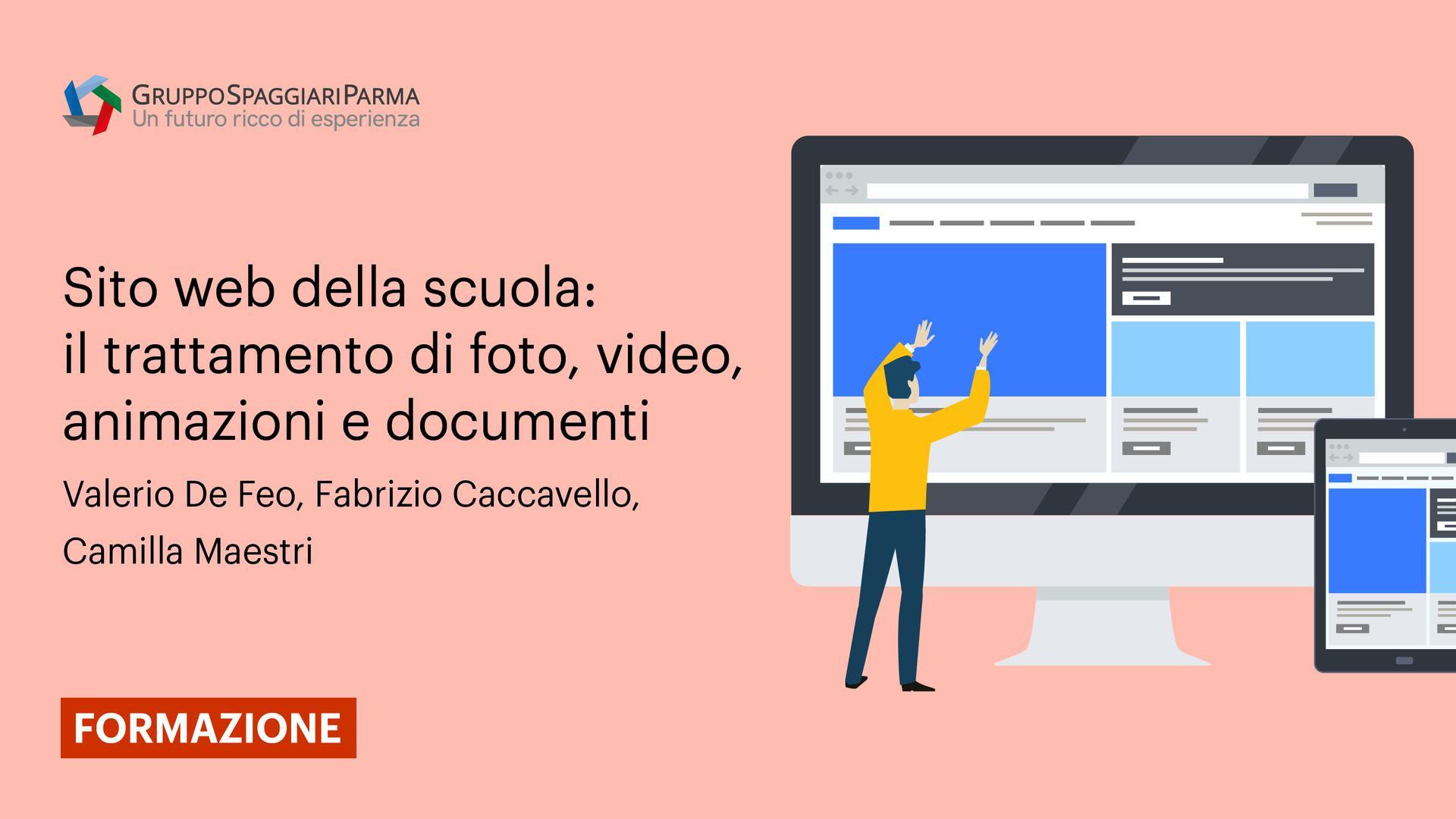 Sito web della scuola: il trattamento di foto, video, animazioni e documenti