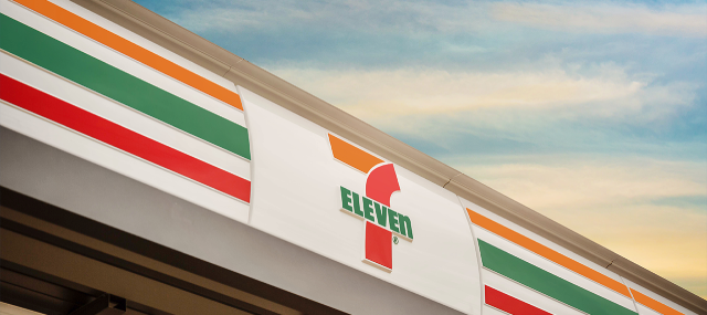 7-Eleven store front with sky