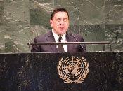 """El embajador de Venezuela ante la ONU, Samuel Moncada, llamó a EE.UU. a """"unirse a la gran mayoría de la comunidad internacional"""" y acabar con el bloque a Cuba."""