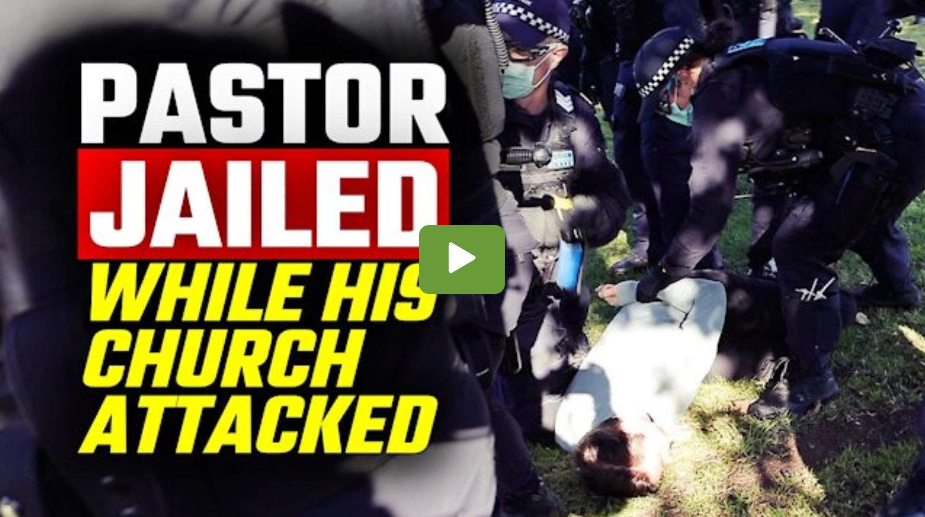 This is what happened when Police STORMED a peaceful church  service in Melbourne