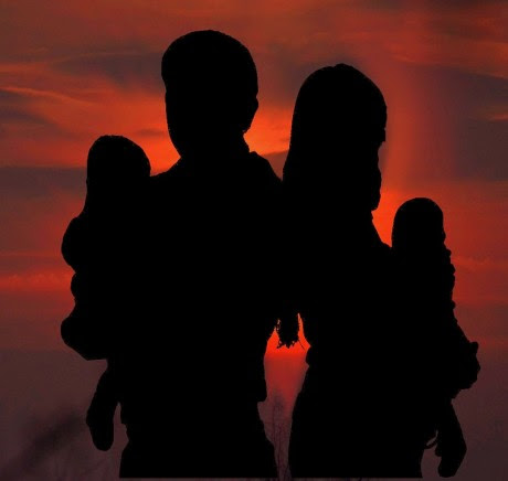 Family Silhouette - Public Domain 2