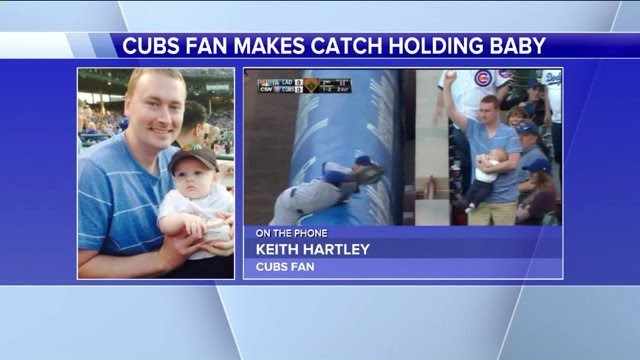 Catching a baseball with a baby: fair or foul?