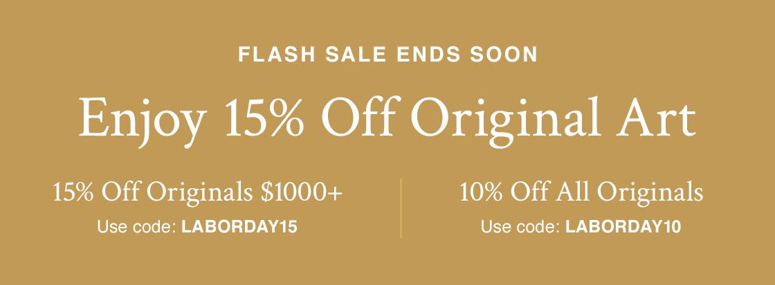 Poupe até 15% em Arte Original 15% de Desconto Originais de $ 1000 + com código LABORDAY15 10% de Desconto Todos os Originais com o código LABORDAY10