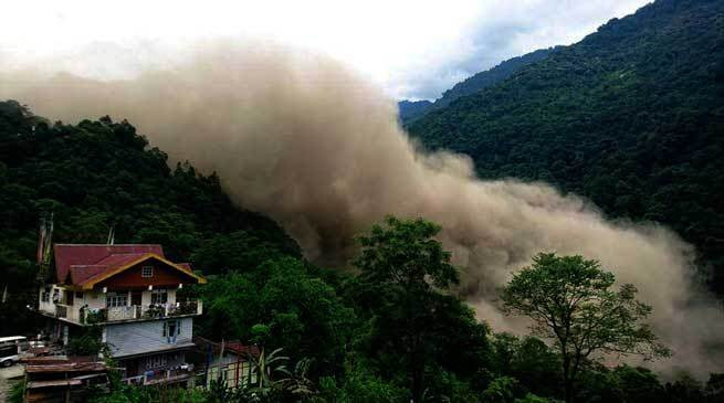 landslides in north sikkim