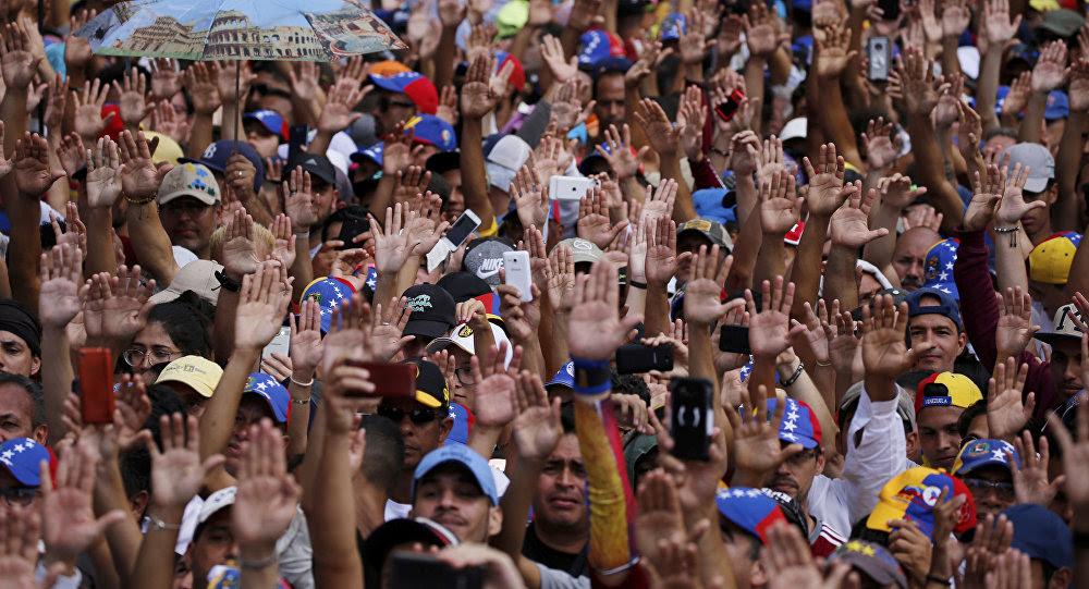 Protesta antigubernamental en Venezuela