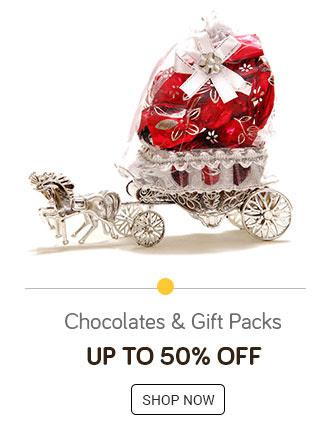 Chocolates & Gift Packs Upto 50% off