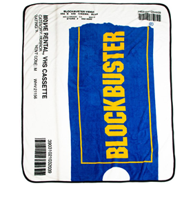 Blockbuster VHS Case Throw Blanket