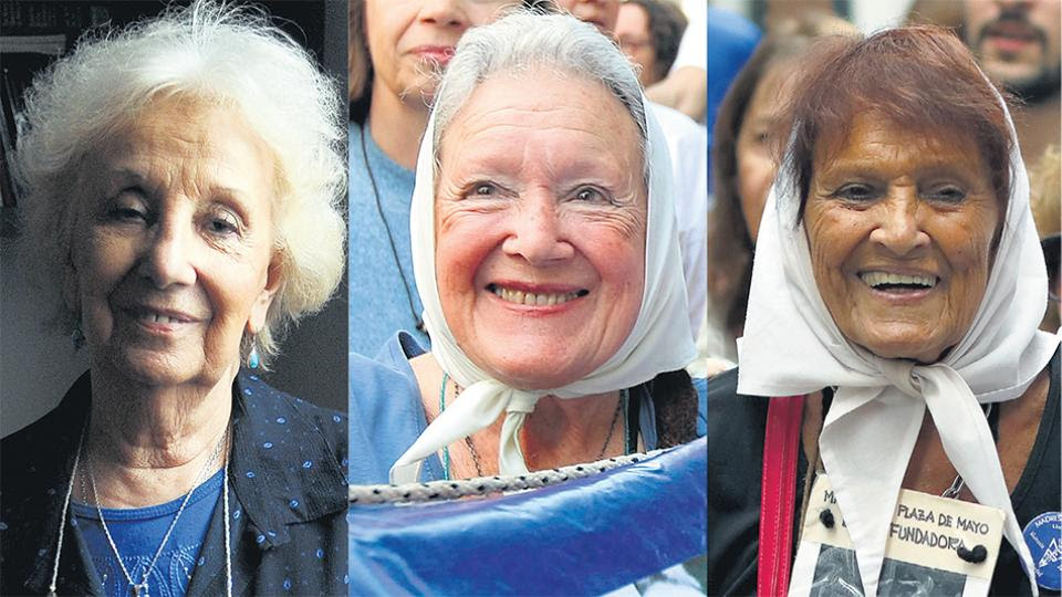 Estela Carlotto, Nora Cortiñas y Taty Almeida.
