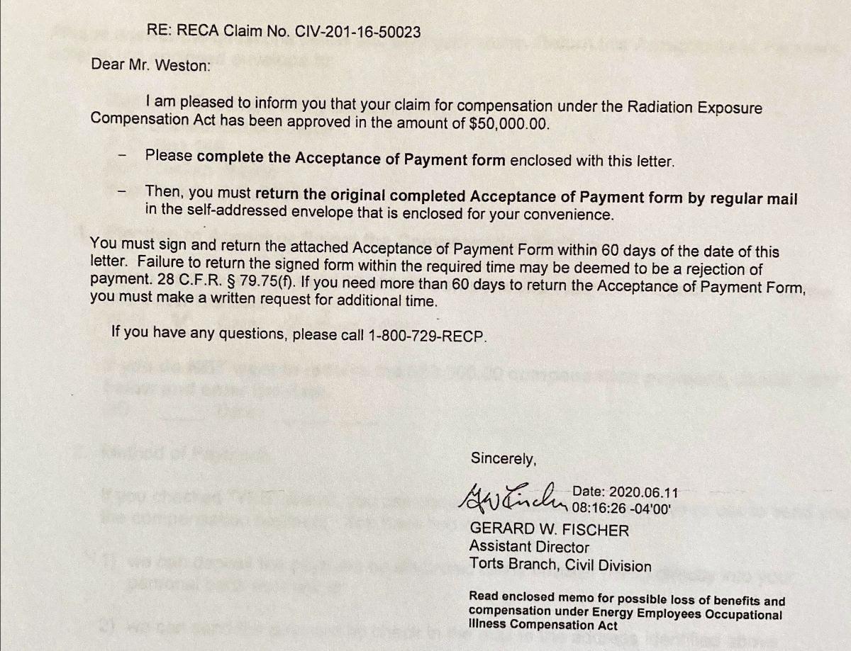 RECA Claim Notice