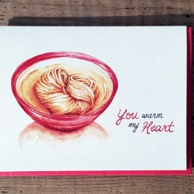 Valentine Card - Valentine's Day Card - You Warm My Heart