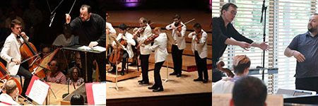 [Andris Nelsons leading the TMC Orchestra, a TMC chamber concert, TMC Orchestra performance, TMC master class with Andris Nelsons]
