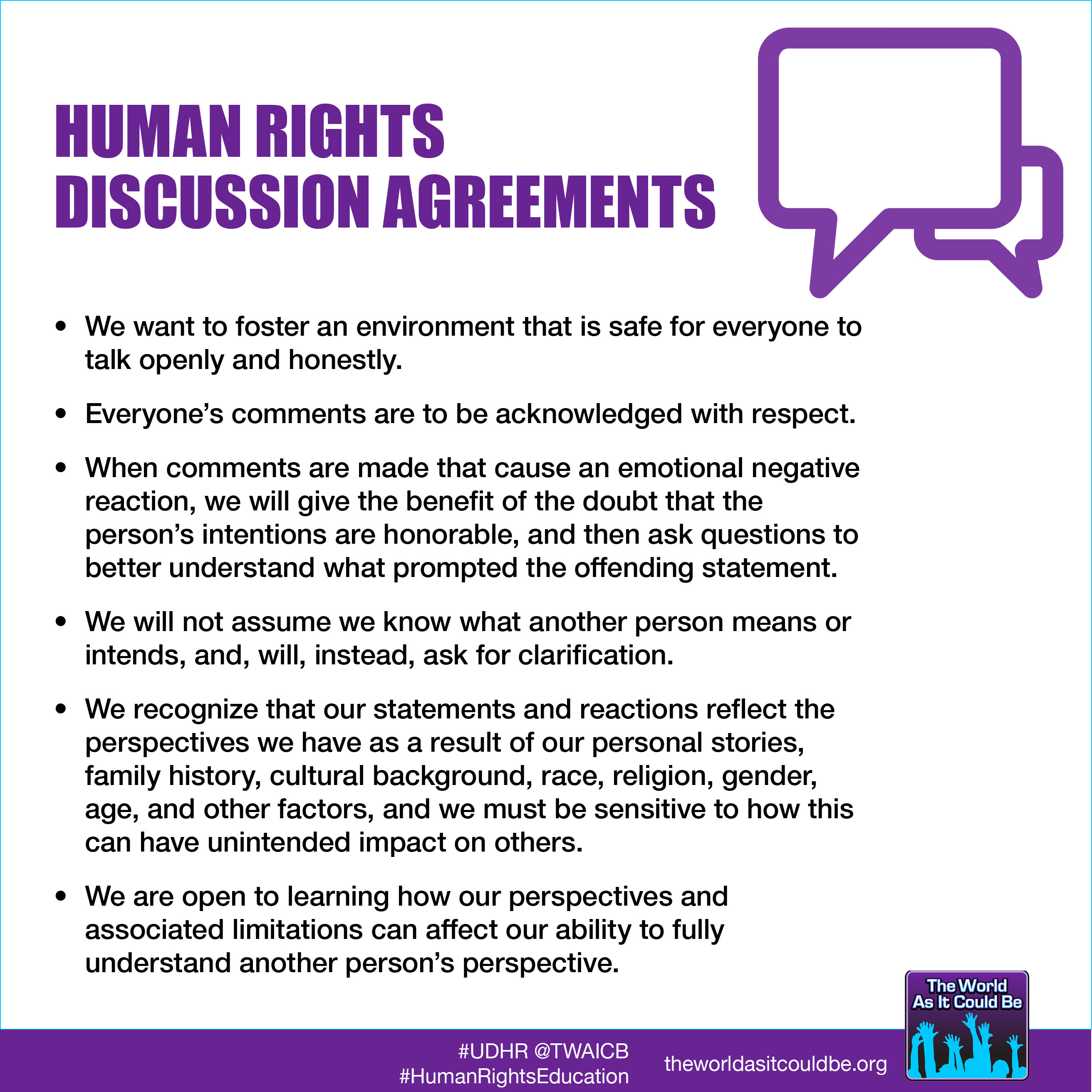 Human Rights Discussion Agreements