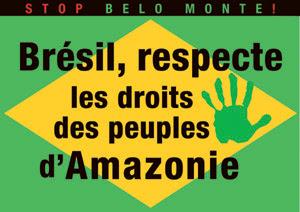 Brésil, respecte les droits des peuples d'Amazonie