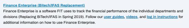 Finance Enterprise in MyFIT