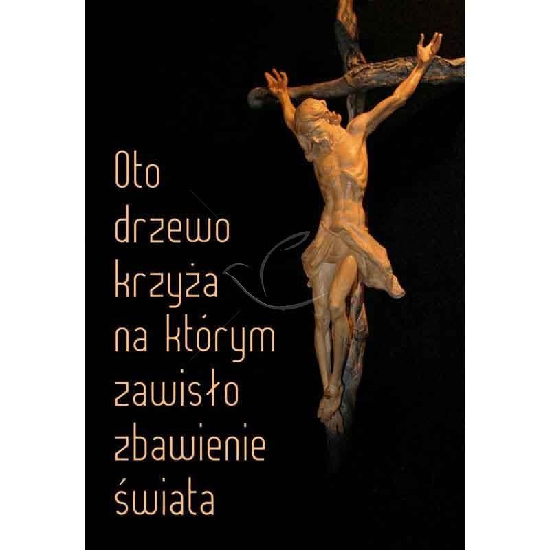 Plakat religijny - Oto drzewo krzyża... (13) - Sklep U Archanioła