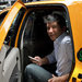 Travis Kalanick of Uber in Manhattan in 2012, after hailing a yellow cab with the company's smartphone app.