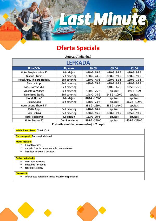 Last Minute Lefkada autocar/individual, plecari pe 29.05, 05.06 si 12.06