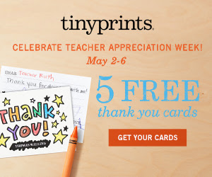 5 Free Thank You Cards Plus 50% Off Thank You Cards