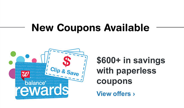 New Coupons Available. $600+ in savings with paperless coupons. View offers