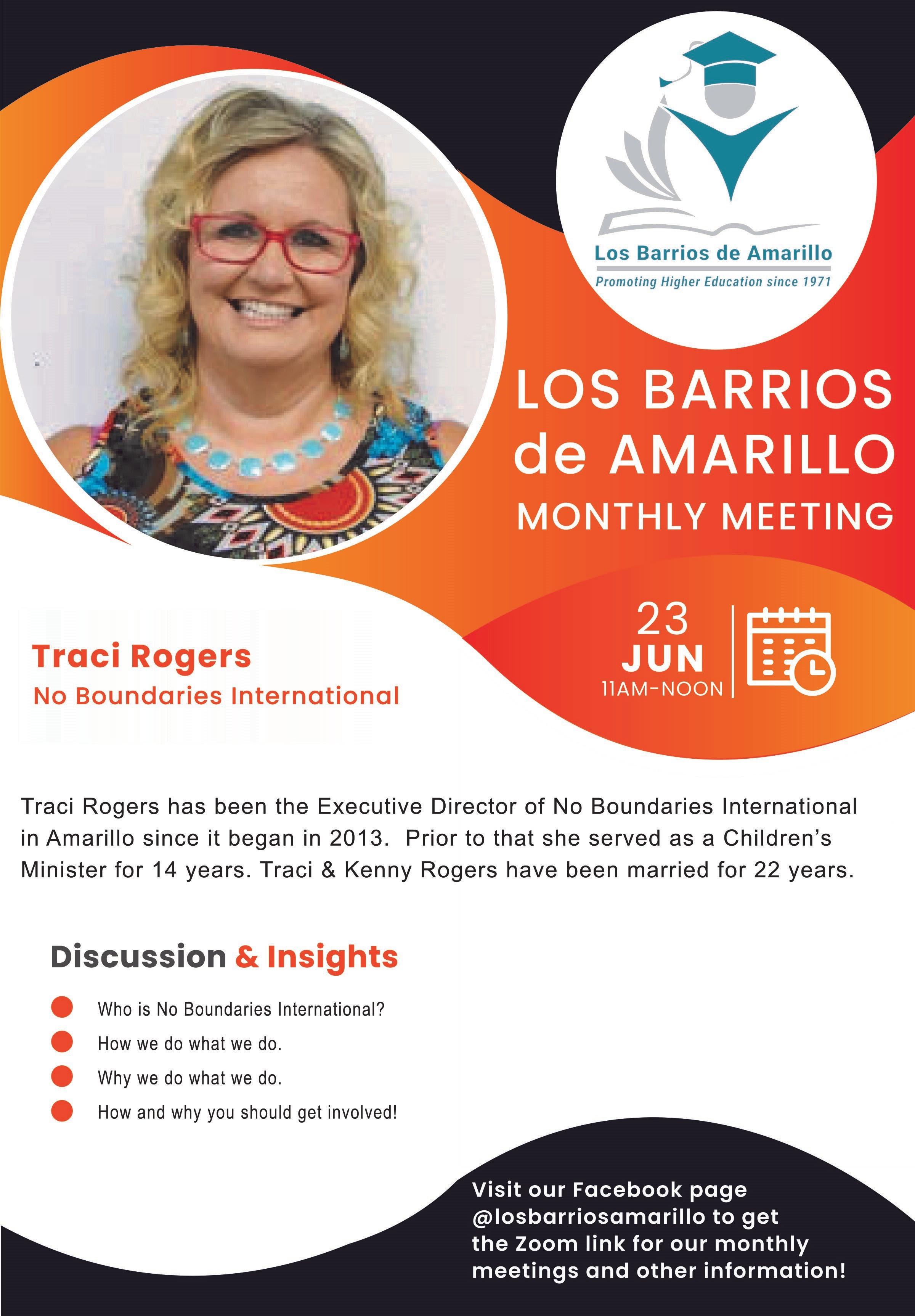 Los Barrios De Amarillo Speaker Of The Month