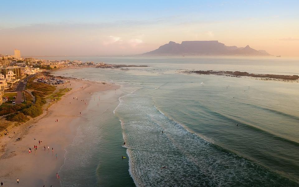Montanha, Table Mountain, África Do Sul, Cidade Do Cabo
