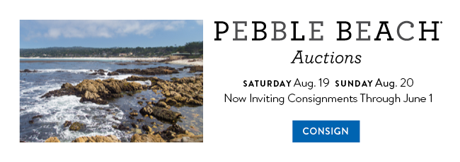 Consign your classic car for The Pebble Beach Auctions