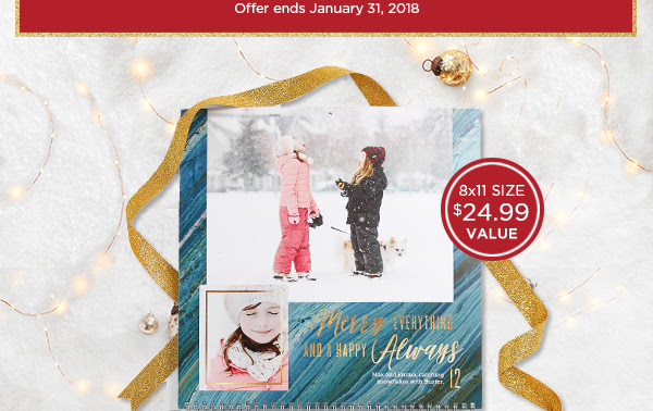 SHOP NOW -- OFFER ENDS JANUARY 31, 2018