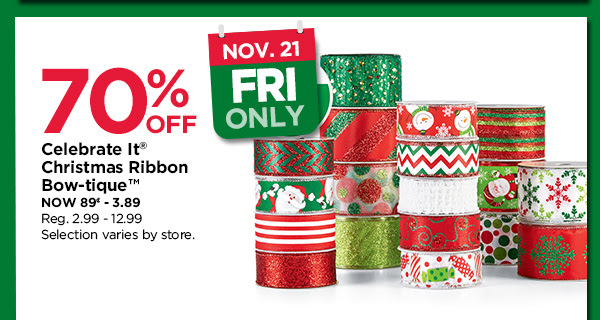 Celebrate it Christmas Ribbon Bow-tique