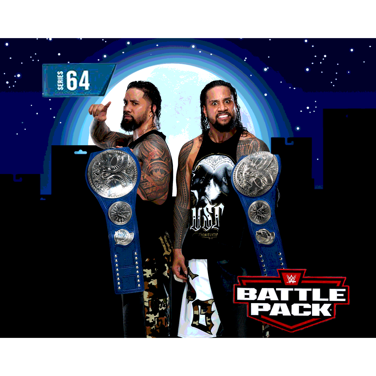 Image of WWE Battle Packs Series 64 - Jey and Jimmy Uso Brothers 2-Pack - MARCH 2020