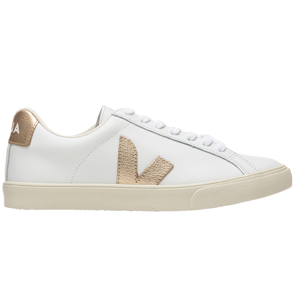 Veja Women's Esplar Logo Leather - Extra White/Platine