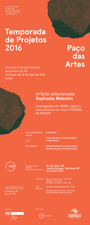 Temporada de Projetos - Raphaela Melsohn