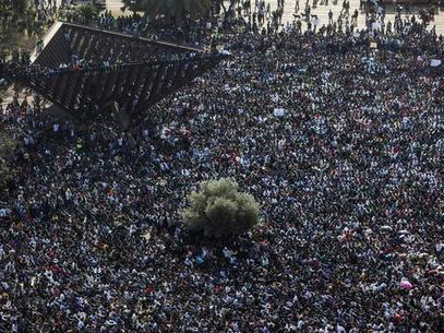 Protesta de miles de africanos en Israel