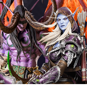 WORLD OF WARCRAFT ILLIDAN & SYLVANAS STATUES
