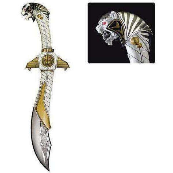 Image of Mighty Morphin Power Rangers White Ranger Legacy Saba Die-Cast Sword Replica