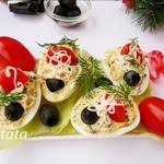 Быстрая закуска из яиц и маслин