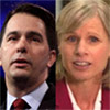 Image of WI Governor Scott Walker and Mary Burke