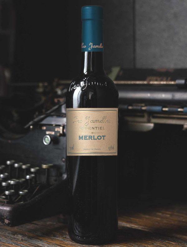 Bottle of Essentiel Merlot by Les Jamelles 2018