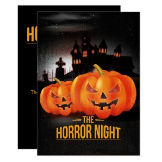 Horror Night Halloween Party Invitation